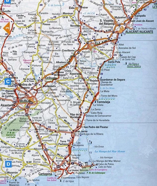 Map for La Mata, on the Costa Blanca