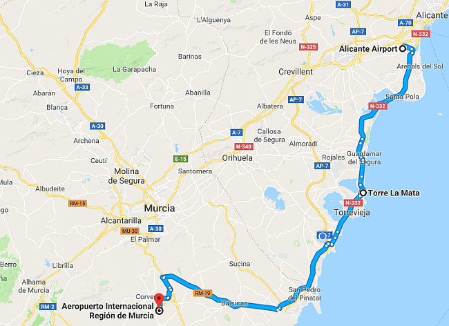 Map for La Mata (Torrelamata) on the Costa Blanca